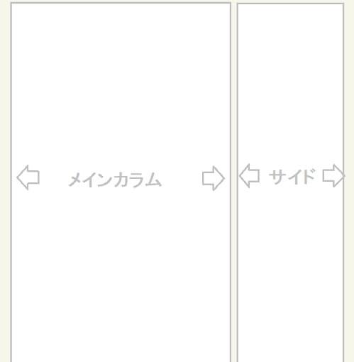 Cocoon設定・コンテンツ・カラム幅